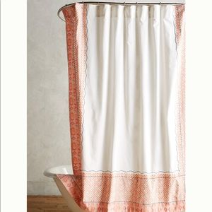 Anthro Embroidered Shower Curtain